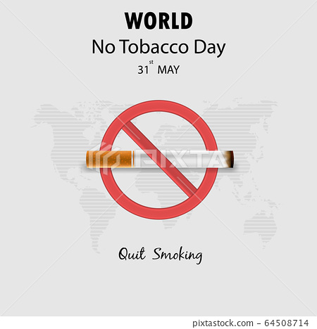 World No Tobacco Day infographic background 64508714
