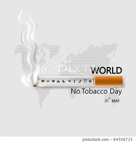 World No Tobacco Day infographic background 64508715