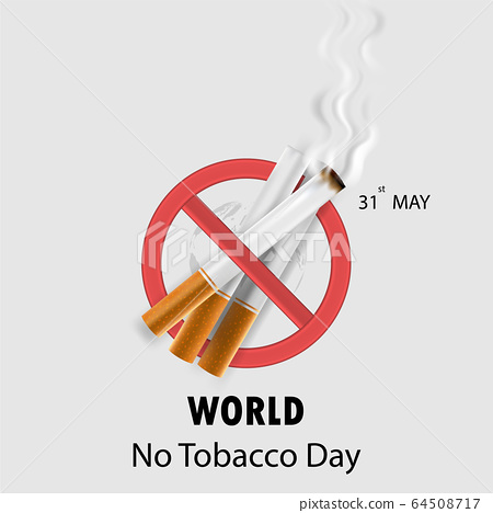 World No Tobacco Day infographic background 64508717