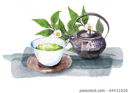日本茶和茶樹 64511020