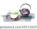 Japanese tea watercolor 64511024
