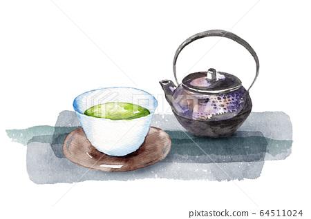 日本茶水彩 64511024