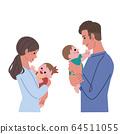 抱着婴儿的母亲的插图 64511055