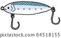 낚시 도구 · 미끼 (컬러) 64518155
