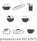 設置菜單圖標,例如沙拉 64532671