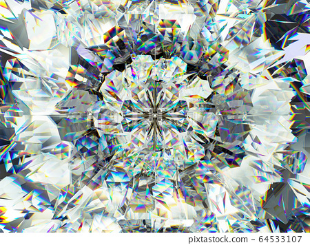 Gemstone or diamond texture closeup and 64533107