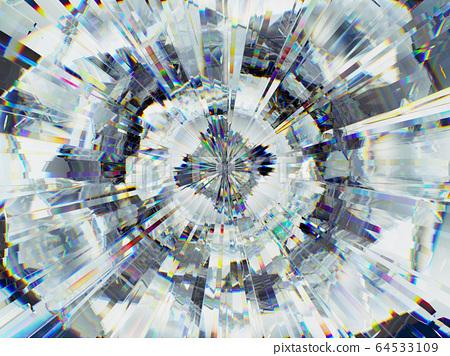 diamond structure extreme closeup and kaleidoscope 64533109