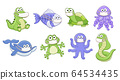 Vector animals in medicine masks 64534435