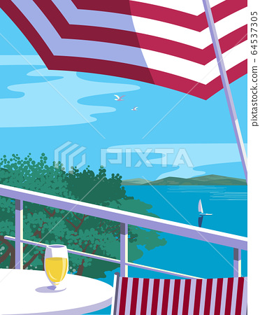 Summer outdoor leisure time background flat vector 64537305