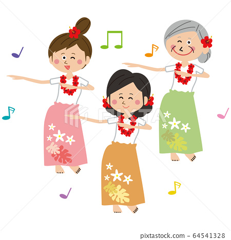 Women who are active in pop dance hula dance