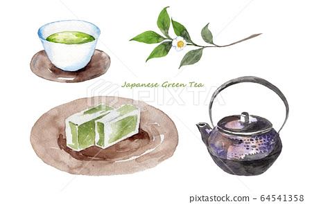 日本茶和茶樹 64541358