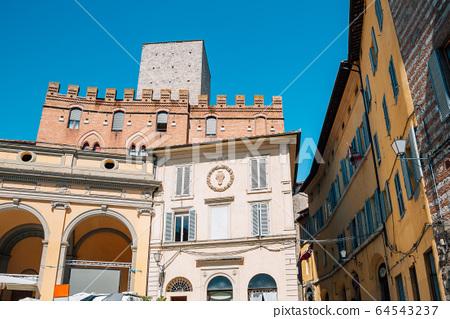 European colorful buildings in Siena, Italy 64543237