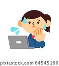 학생 여자 교복 컴퓨터 인터넷 불안 64545190