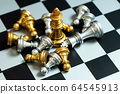 Gold king chess piece win over lying down another 64545913