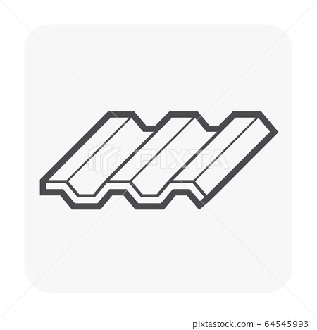 Roofing Material Icon Stock Illustration 64545993 Pixta