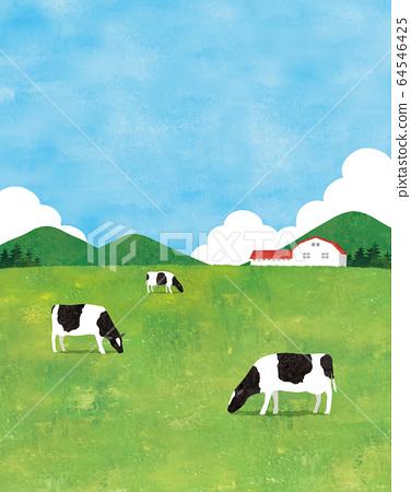 牧場水彩肖像 64546425