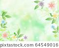 꽃과 잎 _ 그린 배경 64549016