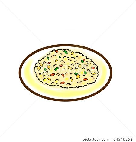 Fried rice illustration cut 64549252
