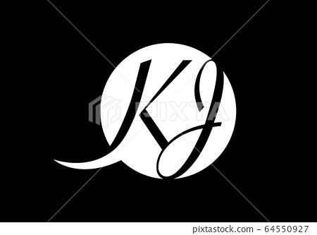 Initial Monogram Letter K J Logo Design Vector Stock Illustration 64550927 Pixta
