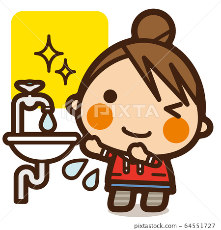 Gakkou Kids is not defeated by viruses! Hand-washing girls when returning from the outside 64551727