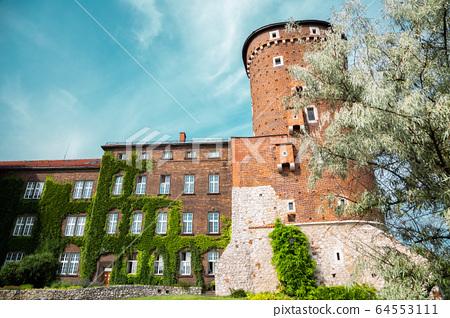 Wawel castle Sandomierska tower in Krakow, Poland 64553111