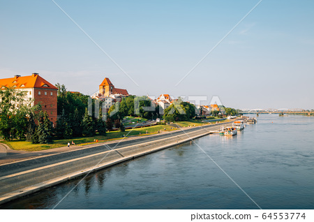 Torun old town and Vistula River in Poland 64553774