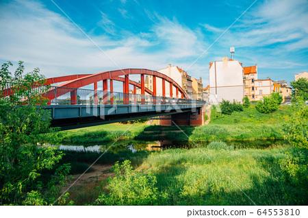 Jordan Bridge and Srodka district in Poznan, Poland 64553810