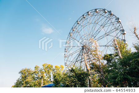 Ferris wheel at Amur riverside amusement park in Khabarovsk, Russia 64554933