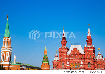 State Historical Museum on red square in Moscow, Russia 64555821