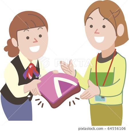 여성 검사 옷을 전달할 접수 64556106