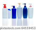 Shampoo and hair conditioner plastic bottle. 64559453