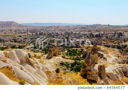 Goreme panorama ancient ruins at Green tour in Cappadocia, Turkey 64564077