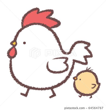 Chicken and child 64564787