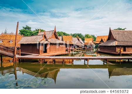 Ancient City Mueang Boran in Samut Prakan, Thailand 64565072