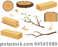 Timber wood set. 64565980
