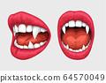 vampire lips white teeth set 64570049
