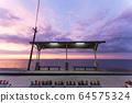 Shimonada Station at dusk 64575324