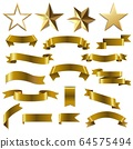 Golden Ribbons And Stars Set 64575494