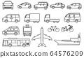 線圖標車/運輸 64576209