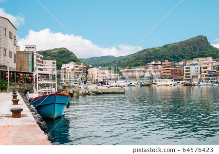 Yehliu fishing harbor village in Taiwan 64576423