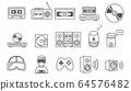 線路圖標音樂/遊戲設備 64576482