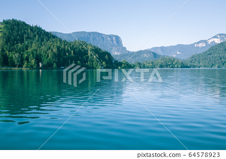 Lake Bled and mountains in Slovenia 64578923