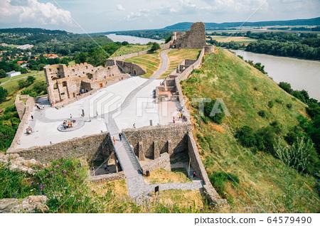 Devin Castle medieval ruins in Slovakia 64579490