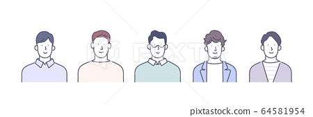 남성 상체 세트 64581954