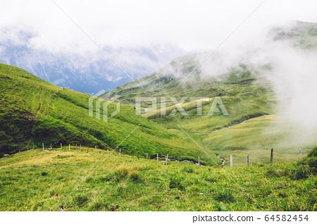 Swiss Alps mountain Grindelwald First in Switzerland 64582454