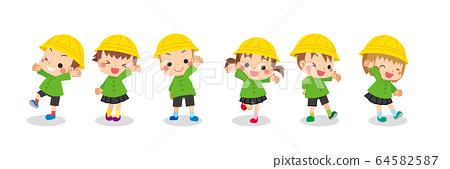 귀여운 유치원생의 단짝 그룹 64582587