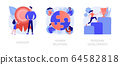 Personal achievement and employees training abstract concept vector illustrations. 64582818