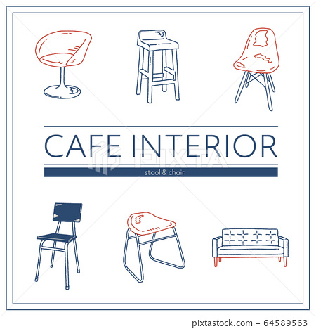 세련된 카페 인테리어 _ 의자 의자 64589563