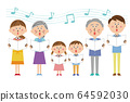 Chorus with a pop 3 generation family 64592030