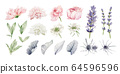 Watercolor Flowers Clipart, Floral Wedding Invitation 64596596